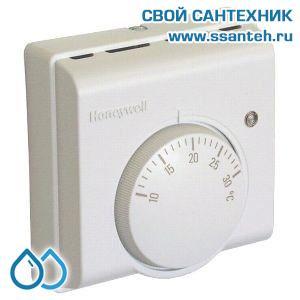 07048 Honeywell T6360A1004 Комнатный термостат для отопления или охлаждения, 10-30С, SPDT, 230В, 10(3)А
